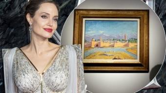 Анджелина Джоли продава на търг картина на Уинстън Чърчил